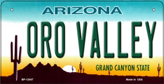 Arizona Oro Valley Novelty Metal Bicycle Plate BP-12047