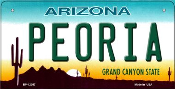 Arizona Peoria Novelty Metal Bicycle Plate BP-12057
