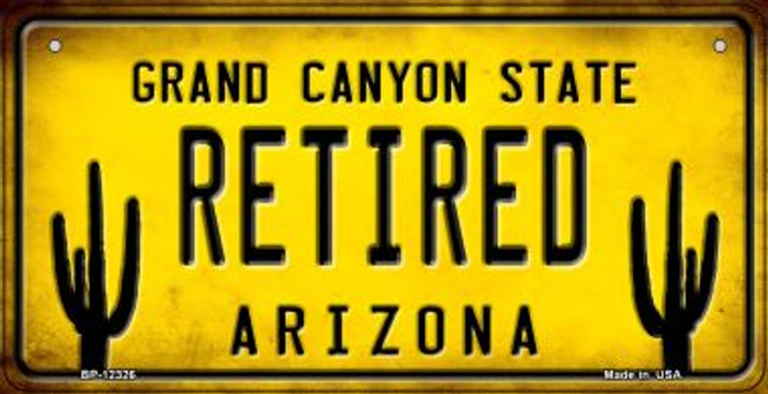 Arizona Retired Novelty Metal Bicycle Plate BP-12326