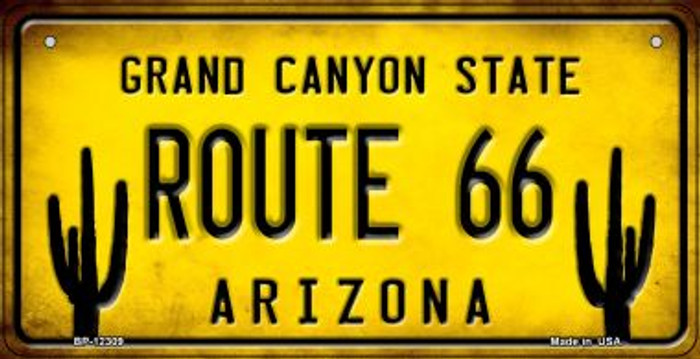 Arizona Route 66 Novelty Metal Bicycle Plate BP-12309
