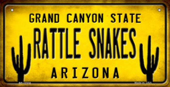 Arizona Rattle Snakes Novelty Metal Bicycle Plate BP-12316