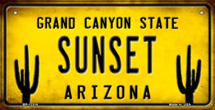 Arizona Sunset Novelty Metal Bicycle Plate BP-12318
