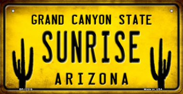 Arizona Sunrise Novelty Metal Bicycle Plate BP-12319