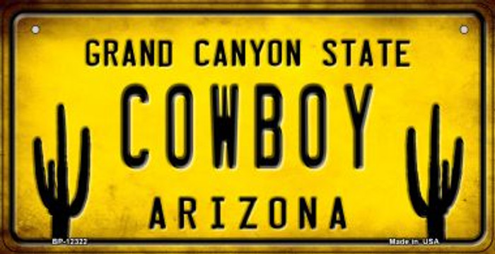 Arizona Cowboy Novelty Metal Bicycle Plate BP-12322