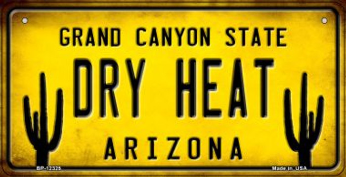 Arizona Dry Heat Novelty Metal Bicycle Plate BP-12325