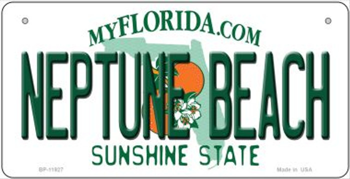 Florida Neptune Beach Novelty Metal Bicycle Plate BP-11927