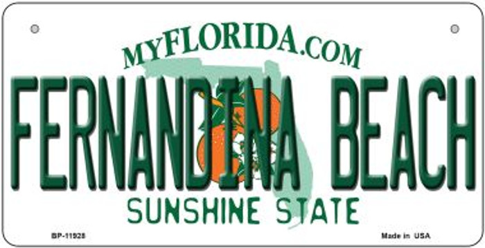 Florida Fernandina Beach Novelty Metal Bicycle Plate BP-11928