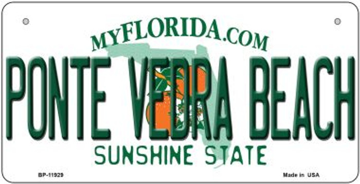 Florida Ponte Vedra Beach Novelty Metal Bicycle Plate BP-11929