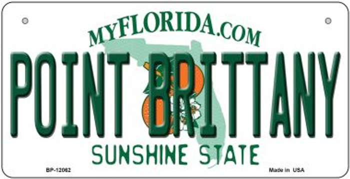 Florida Point Brittany Novelty Metal Bicycle Plate BP-12062