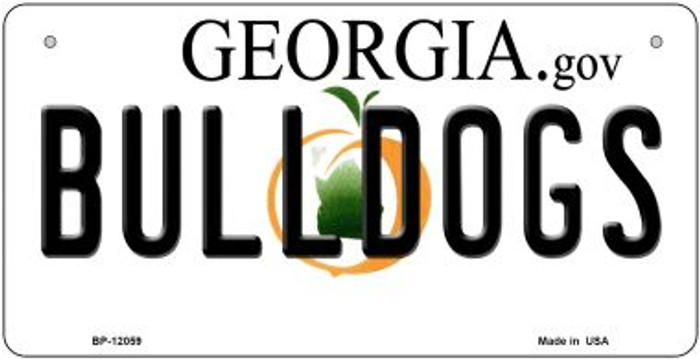 Georgia Bulldogs Novelty Metal Bicycle Plate BP-12059