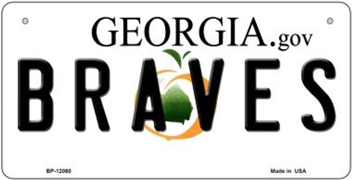 Georgia Braves Novelty Metal Bicycle Plate BP-12060