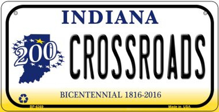 Indiana Crossroads Novelty Metal Bicycle Plate BP-6369