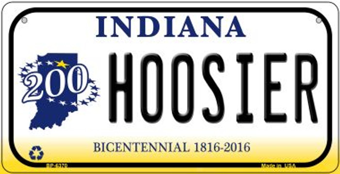 Indiana Hoosier Novelty Metal Bicycle Plate BP-6370