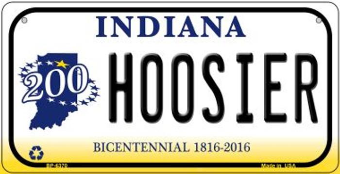 Indiana Hoosier Novelty Metal Bicycle Plate BP-6370