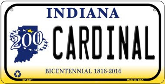 Indiana Cardinal Novelty Metal Bicycle Plate BP-6371