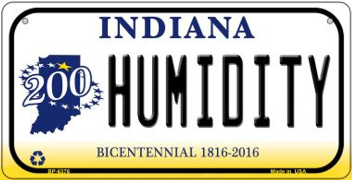 Indiana Humidity Novelty Metal Bicycle Plate BP-6376