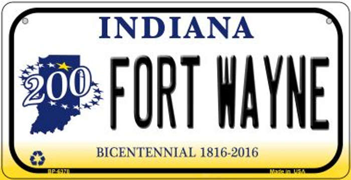 Indiana Fort Wayne Novelty Metal Bicycle Plate BP-6378