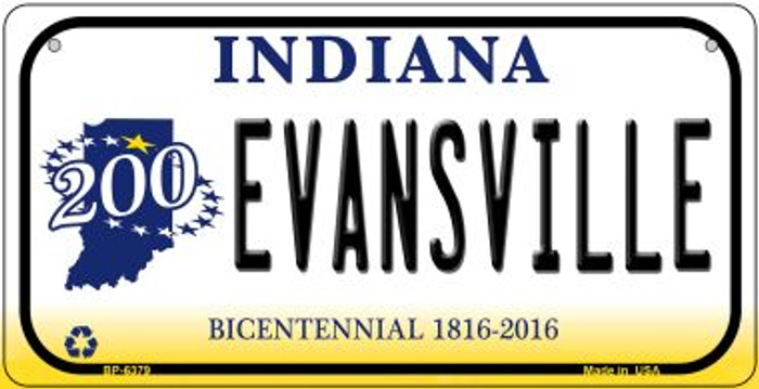 Indiana Evansville Novelty Metal Bicycle Plate BP-6379