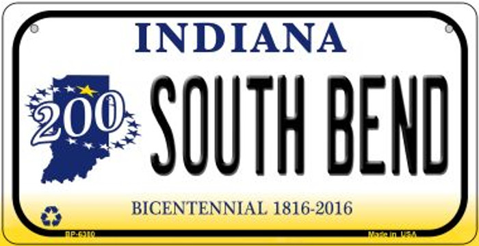 Indiana South Bend Novelty Metal Bicycle Plate BP-6380