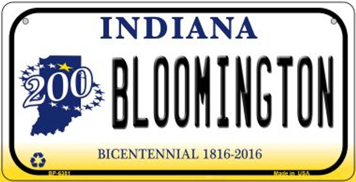 Indiana Bloomington Novelty Metal Bicycle Plate BP-6381
