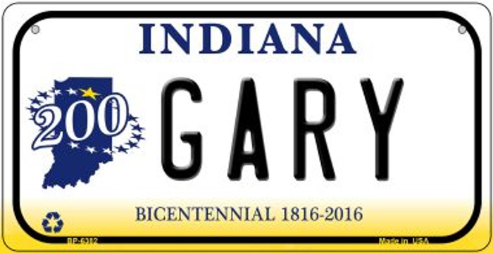 Indiana Gary Novelty Metal Bicycle Plate BP-6382