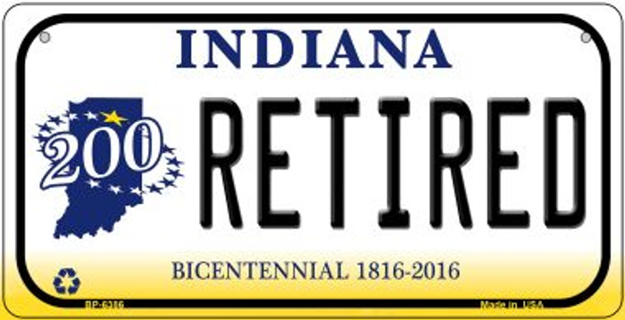 Indiana Retired Novelty Metal Bicycle Plate BP-6386