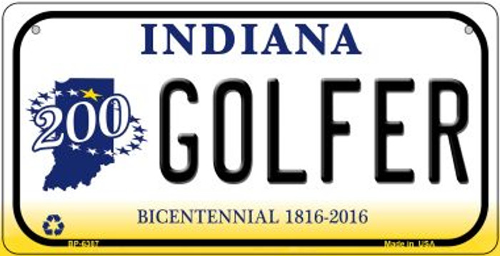 Indiana Golfer Novelty Metal Bicycle Plate BP-6387