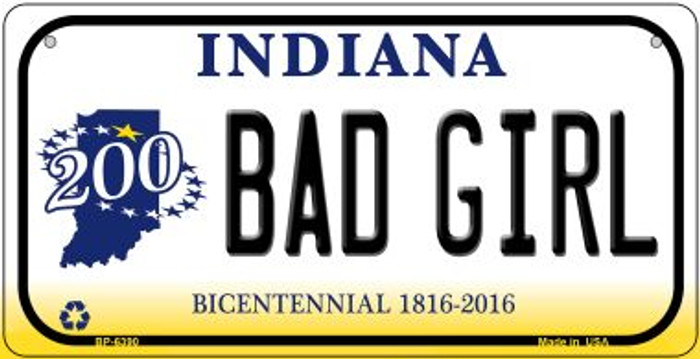 Indiana Bad Girl Novelty Metal Bicycle Plate BP-6390
