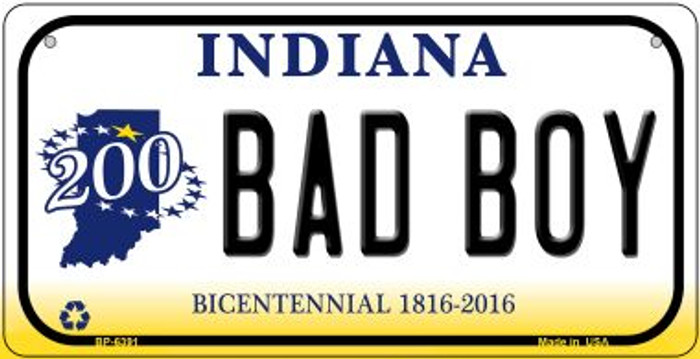 Indiana Bad Boy Novelty Metal Bicycle Plate BP-6391