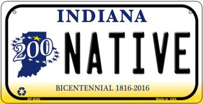 Indiana Native Novelty Metal Bicycle Plate BP-6392