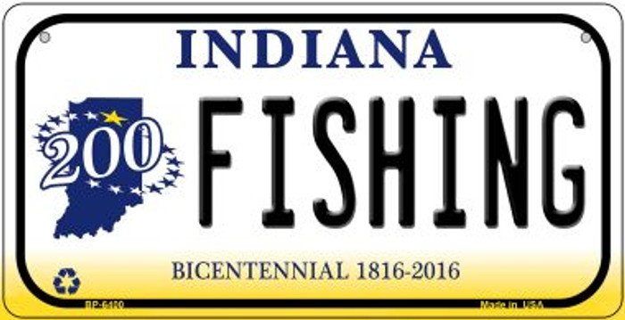 Indiana Fishing Novelty Metal Bicycle Plate BP-6400