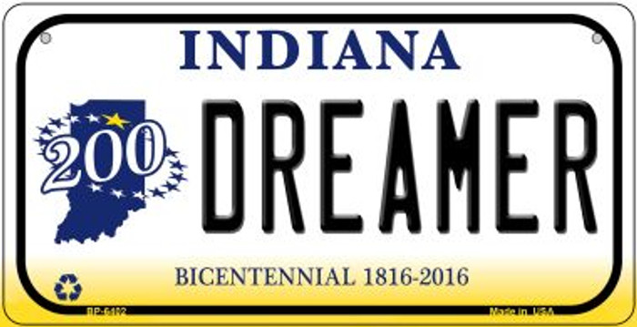 Indiana Dreamer Novelty Metal Bicycle Plate BP-6402