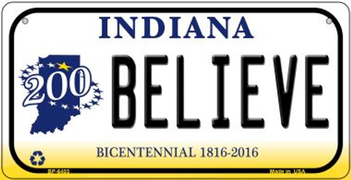 Indiana Believe Novelty Metal Bicycle Plate BP-6403
