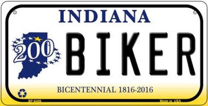 Indiana Biker Novelty Metal Bicycle Plate BP-6406