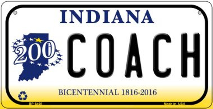 Indiana Coach Novelty Metal Bicycle Plate BP-6408