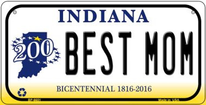 Indiana Best Mom Novelty Metal Bicycle Plate BP-6651