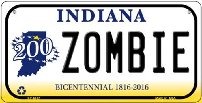 Indiana Zombie Novelty Metal Bicycle Plate BP-6747