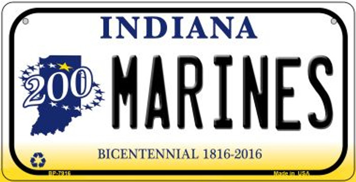 Indiana Marines Novelty Metal Bicycle Plate BP-7916