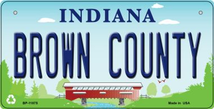 Indiana Brown County Novelty Metal Bicycle Plate BP-11875
