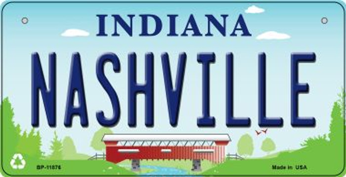 Indiana Nashville Novelty Metal Bicycle Plate BP-11876