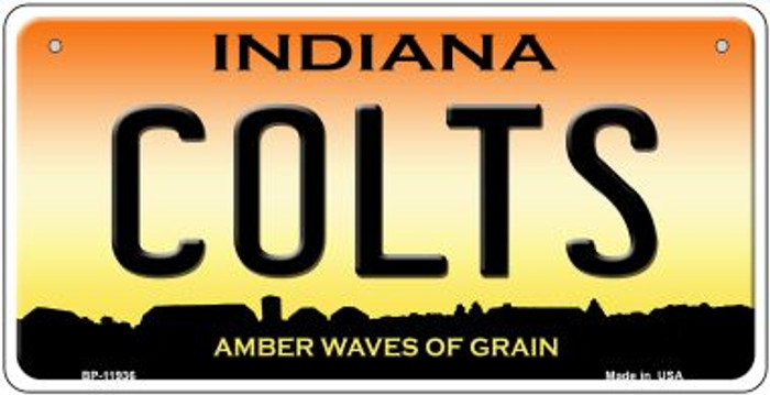 Indiana Colts Novelty Metal Bicycle Plate BP-11936