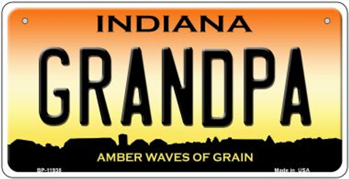 Indiana Grandpa Novelty Metal Bicycle Plate BP-11938
