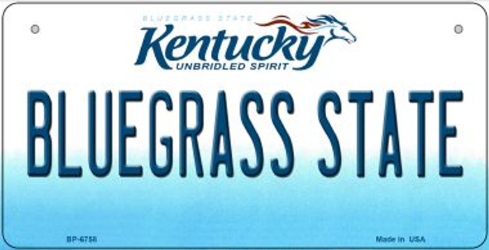 Kentucky Bluegrass State Novelty Metal Bicycle Plate BP-6758