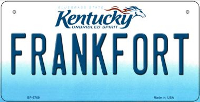Kentucky Frankfort Novelty Metal Bicycle Plate BP-6760