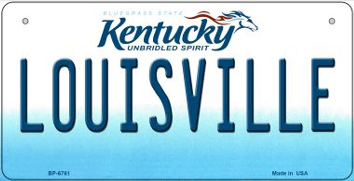 Kentucky Louisville Novelty Metal Bicycle Plate BP-6761