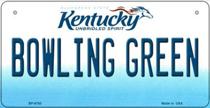 Kentucky Bowling Green Novelty Metal Bicycle Plate BP-6763
