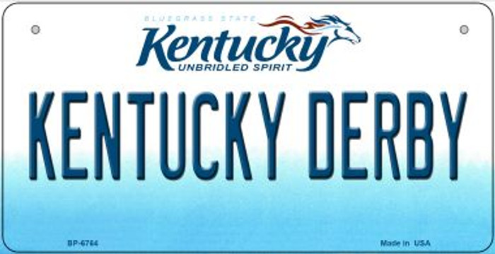 Kentucky Derby Novelty Metal Bicycle Plate BP-6764