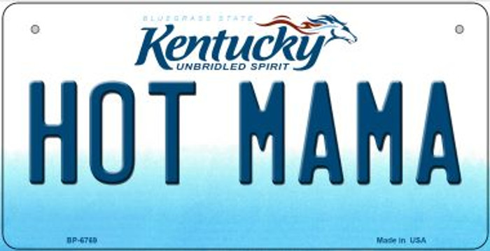 Kentucky Hot Mama Novelty Metal Bicycle Plate BP-6769