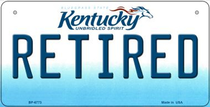Kentucky Retired Novelty Metal Bicycle Plate BP-6773