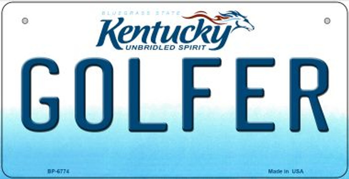 Kentucky Golfer Novelty Metal Bicycle Plate BP-6774